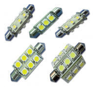 Led vervangings lampen Festoon 42 mm 12-24 Volt